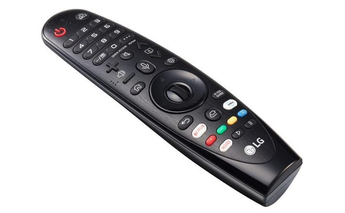 "The ""Magic Remote"" for the LG OLED65C9."
