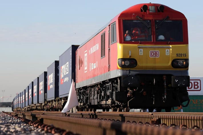 The First Freight Train From China Arrives In The UK