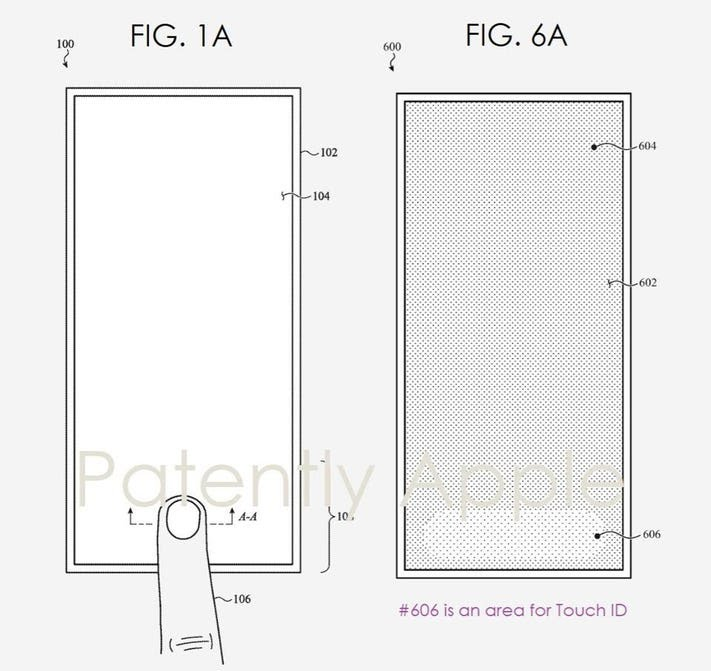 Paten Touch ID dalam-layar Apple lebih lebar dari sensor ponsel lain.